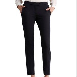 Theory Black Ankle Cropped Career Pants Trousers